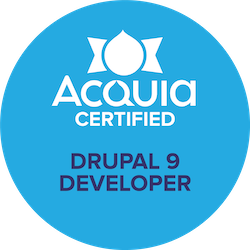 "erster ""Acquia Certified Developer - Drupal 9"" in Deutschland"
